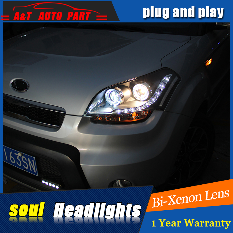 car styling for kia soul headlights drl 2010 2012 for kia. Black Bedroom Furniture Sets. Home Design Ideas