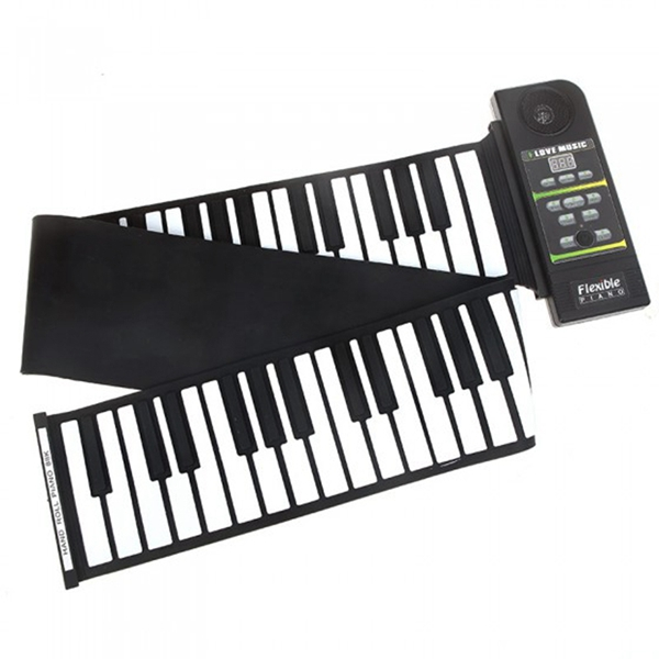 88 Keys Flexible Electric Roll Up Piano Keyboard Instruments For Beginner Silicone With Pedal flexible 88 keys roll up piano keyboard for kids and promotion