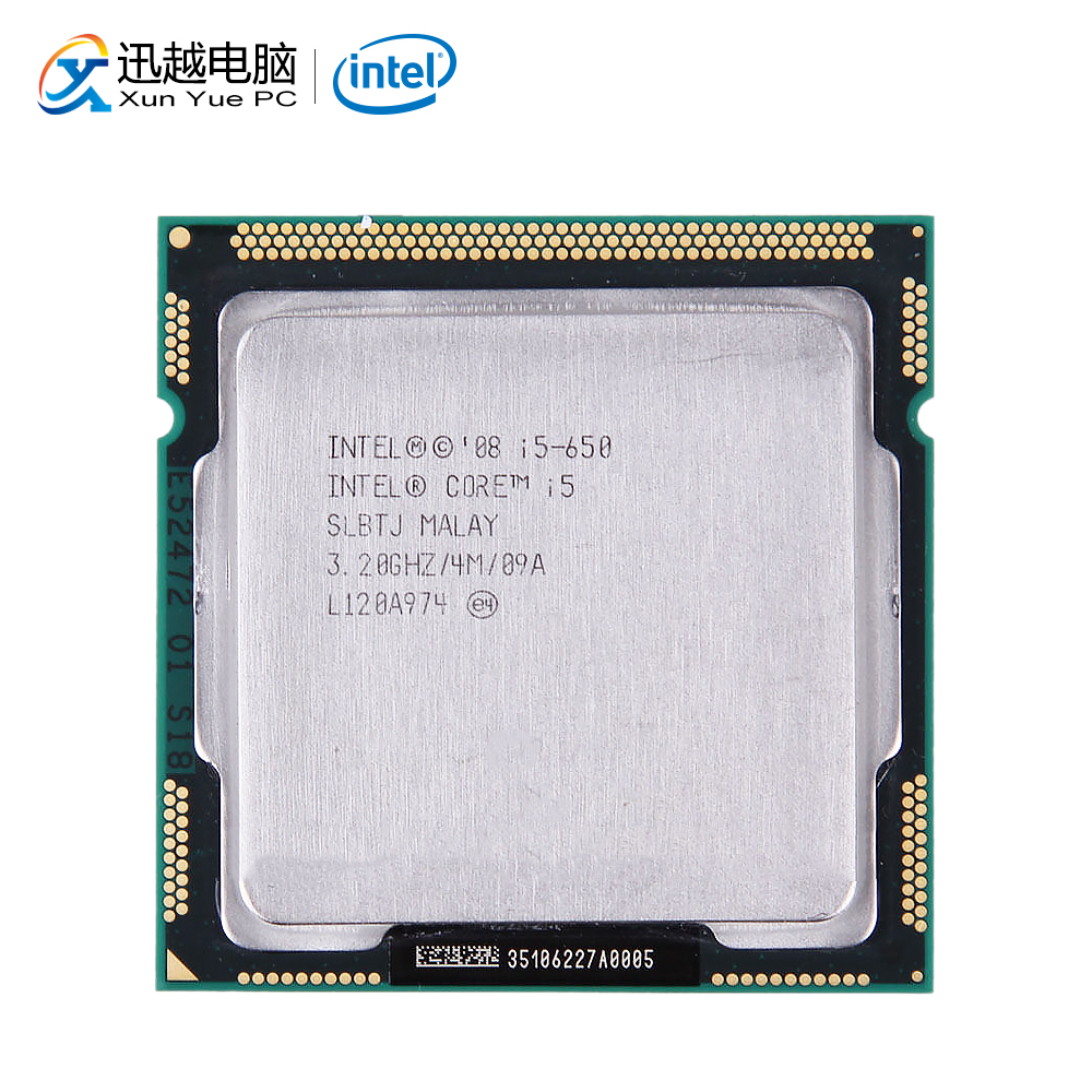 Intel Core I5 650 Desktop Processor I5-650 Dual-Core 3.2GHz 4MB Cache LGA 1156 Used CPU