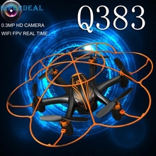 Good Sale Wltoy Q383 2.4Ghz WIFI FPV RC Quadcopter Drone With 0.3MP Camera Monitor Display Feb 10