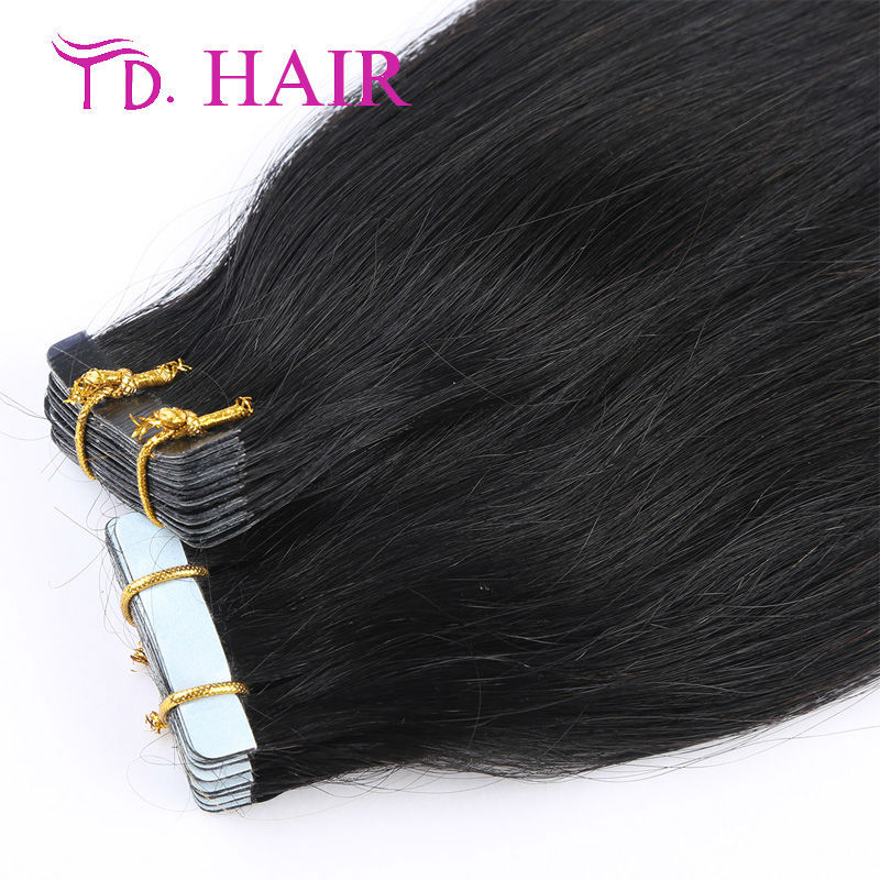 #1 tape Hair Extension wholesale virgin Human Hair Use Strong Blue brazilian tape in Hair Women Skin Weft Hair Extensions