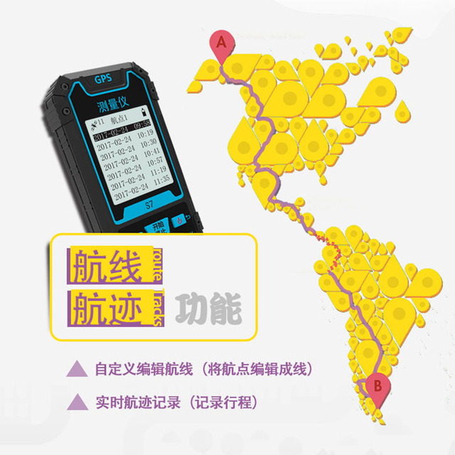 GPS S Easy To Hold Outdoor Handheld GPS Locator Longitude - Altitude longitude finder
