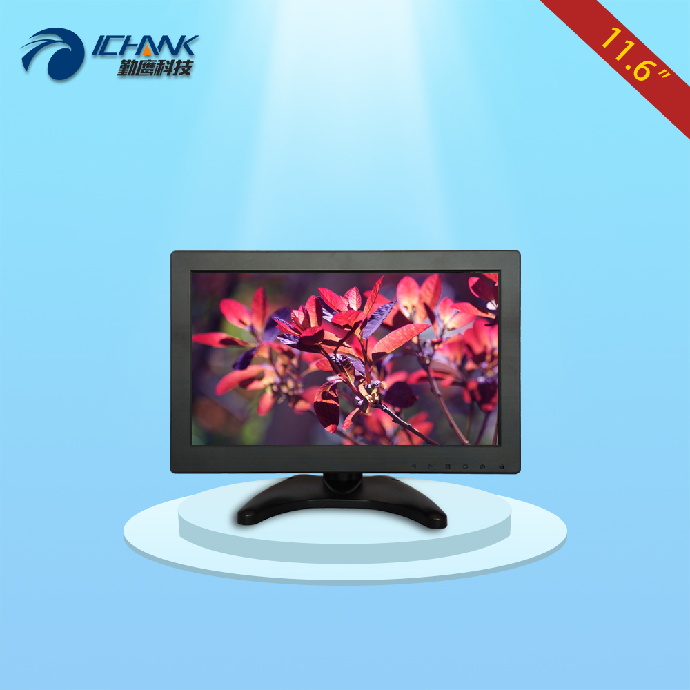 "B116JN-ABHUV/11.6"" 12"" inch 1366x768 HDMI PC Monitor LCD Display/11.6"" Small Wall-hanging Pluggable U-disk Advertising Machine"