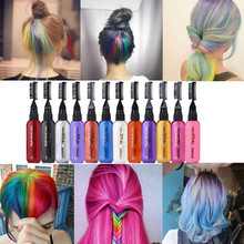 13 Colors Temporary Hair Dye Mascara Cream Non-toxic DIY color washable mask once colored hair Pen #20.15