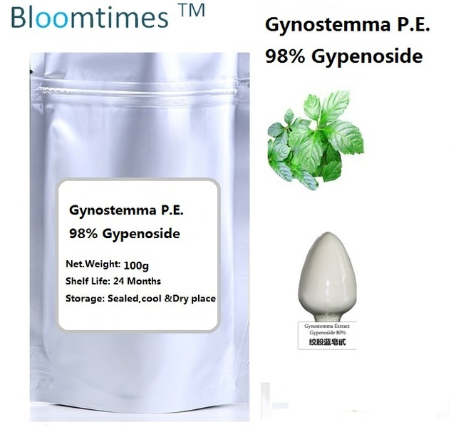 El más nuevo lote 98% Gypenoside Pentaphylla Gynostemma P.E Natural/fiveleaf gynostemma hierba extracto de 100 g/bolsa