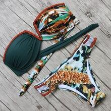 Off Shoulder Bandeau Push Up Bandage Swimwear