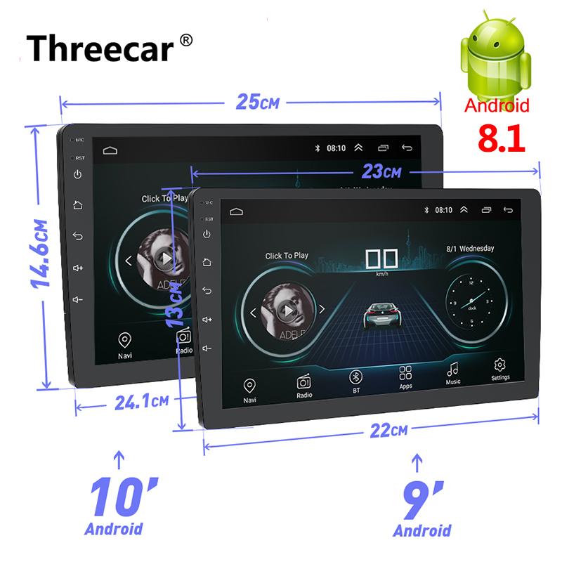 Newest 2 Din Android Car Radio GPS Navigation 9 10 2din Universal Car Stereo Audio Bluetooth