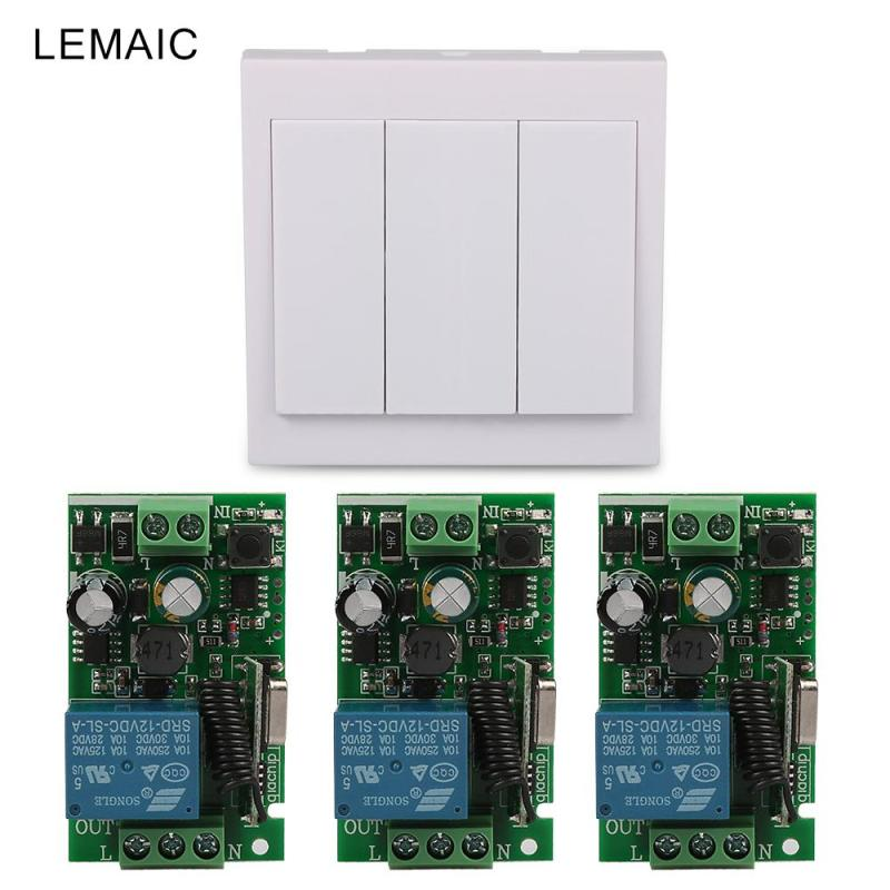 433 Mhz Universal Wireless Remote Control Switch AC 110V 220V 1CH Relay Receiver and 433Mhz 86 Wall Panel RF Remote Transmitters wireless pager system 433 92mhz wireless restaurant table buzzer with monitor and watch receiver 3 display 42 call button