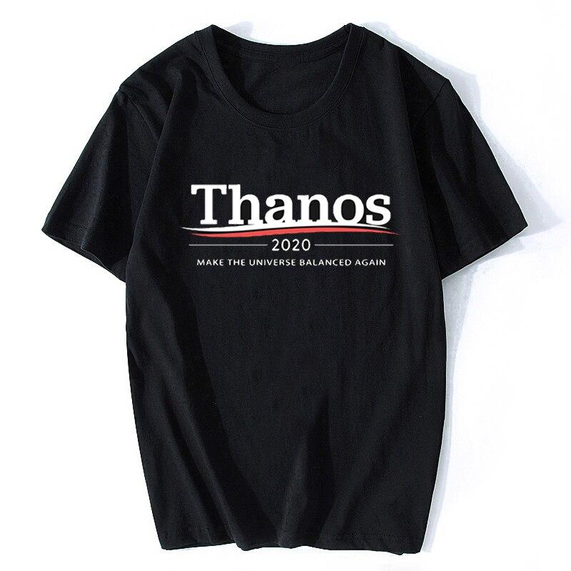 Thanos 2020  Make The Universe Balanced Again Infinity War PORG T-shirt Short Sleeve Endgame Avengers Tshirt Fashion T Shirts
