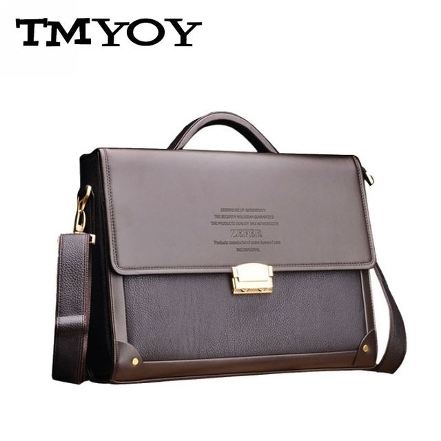 TMYOY Men Casual Briefcase Business Shoulder Leather Bag Men Messenger Bags Computer Laptop Handbag Bag Men's Travel Bags BG289
