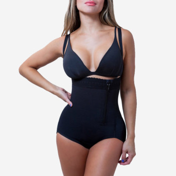 Plus Size Hot Latex Sexy Women Body Shaper Post Liposuction Girdle Clip And Zip Bodysuit Vest Waist Shaper Reductoras Shapewear 4