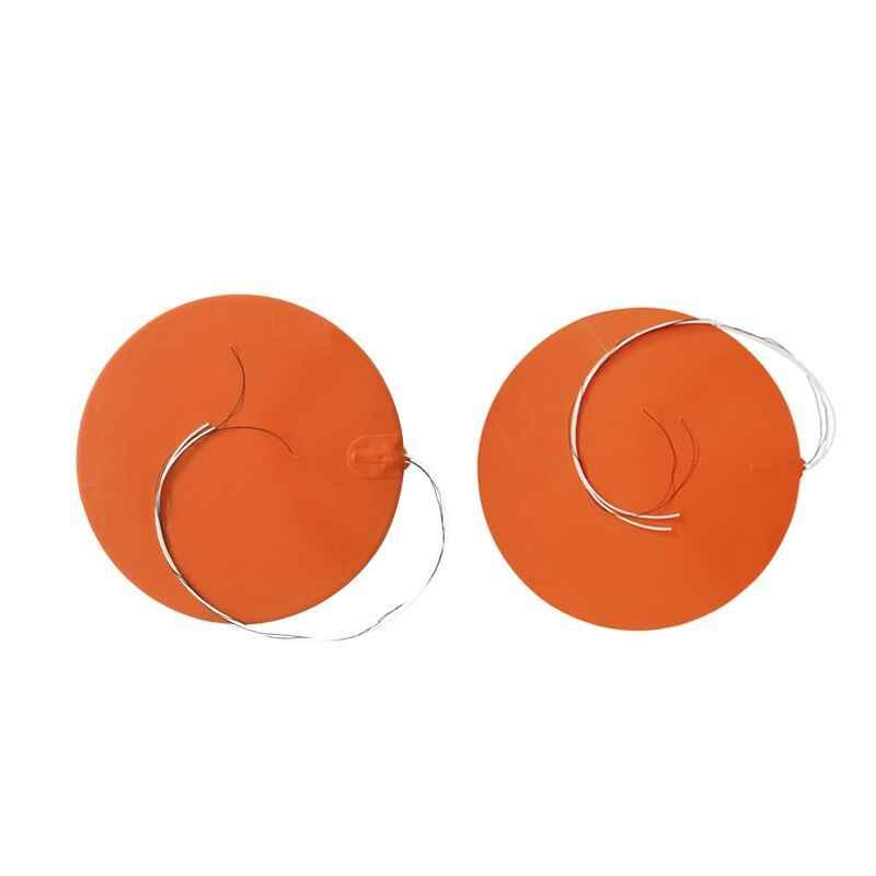 Пользовательские круглые 200 мм 12 v 200 Вт силиконовый подогреватель для кровати с клейкой лентой 3 M и 100 к Термистор для 3D-принтеры радиатор