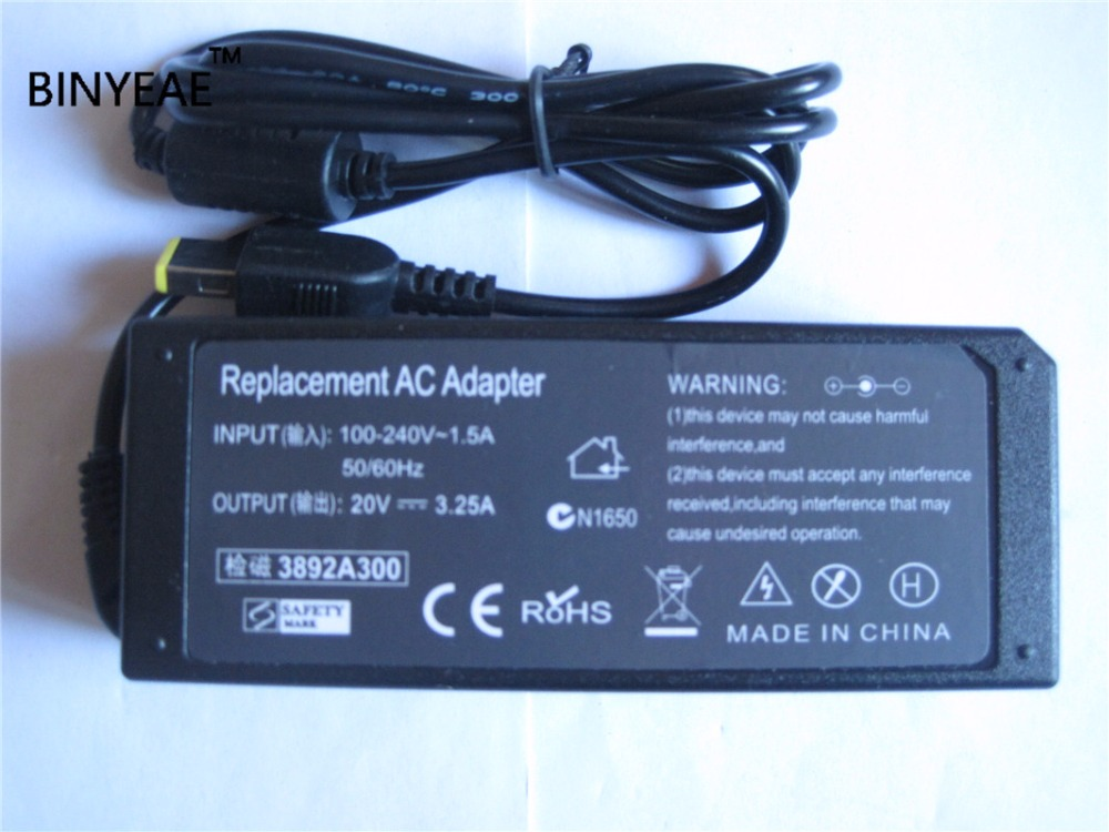 20V 3.25A 65W AC /DC Power Supply Adapter <font><b>Battery</b></font> Charger for Lenovo ThinkPad Edge T431S <font><b>X240</b></font> 0B47463 0B47459
