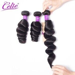 Image 2 - Celie Brazil Tóc Weave Gói Với Ren Đóng Cửa Remy Tóc Con Người 3 Bó Giao Dịch 4 cái/lốc Bó Sóng Lỏng Lẻo Với đóng cửa