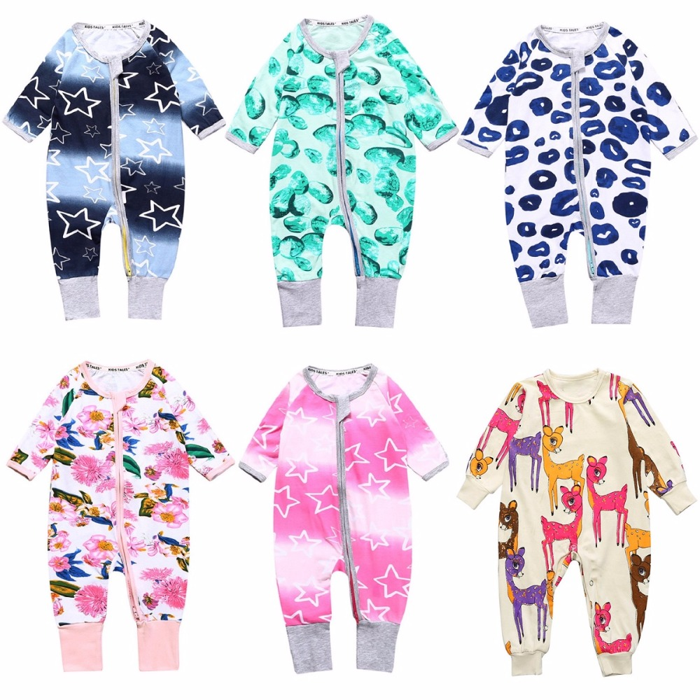 Hooyi Baby Clothes 0-24Month Newborn Pajamas Romper 100% Cotton Infant Sleepwear Jumpsuit Baby Overall Bebe Clothing Top Quality mother nest baby romper 100% cotton long sleeves baby gilrs pajamas cartoon printed newborn baby boys clothes infant jumpsuit
