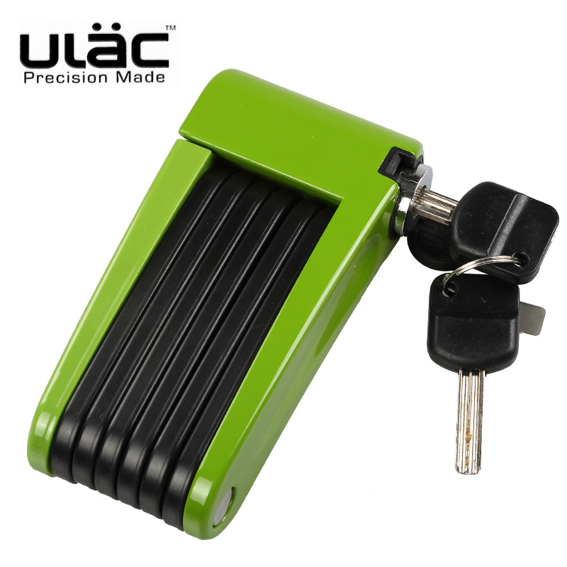 ULAC Folding Bicycle Lock Mini Portable Foldable Bike Lock Professional Anti-theft Alloy Strong MTB Mountain Road Bike Lock цена