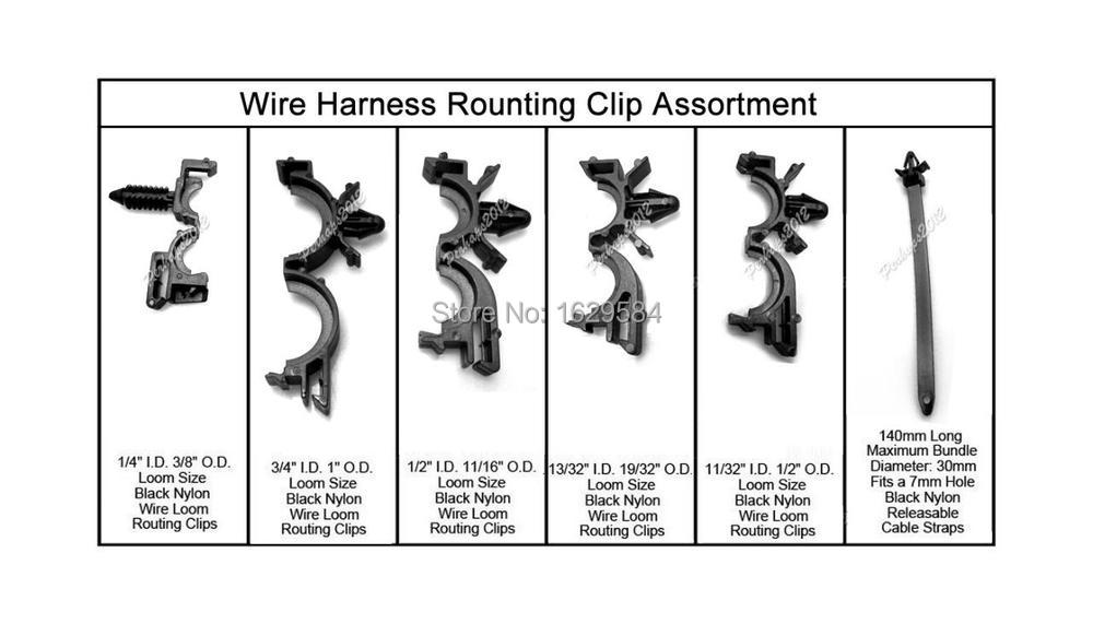 Onne Shop 54x Wiring Harness Wire Loom Routing Cp Assortment