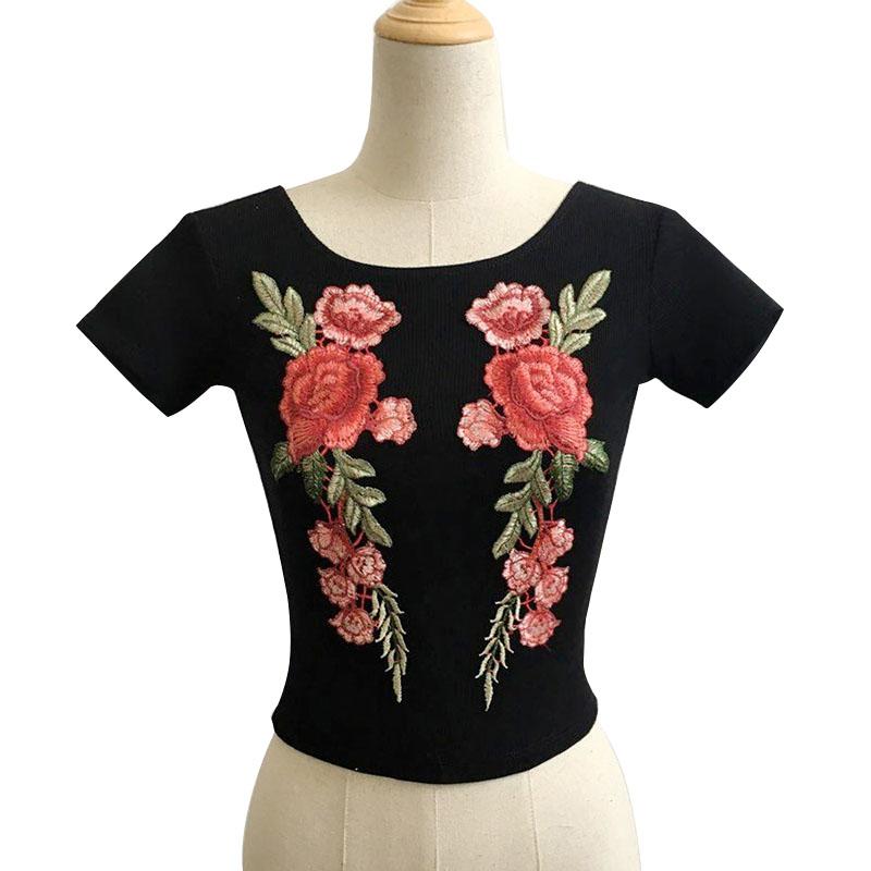 HTB1asC0SpXXXXazXFXXq6xXFXXXV - Sexy Flower Embroidery T-shirt PTC 60