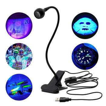 LED Ultraviolet Lights Desk Lamp USB Mini UV Gel Curing Light Nail Dryer for DIY Nail Art for Cash Medical Product Detector 2