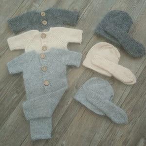 Image 5 - Neugeborenen fotografie requisiten, Nerz garn body für baby fotografie requisiten