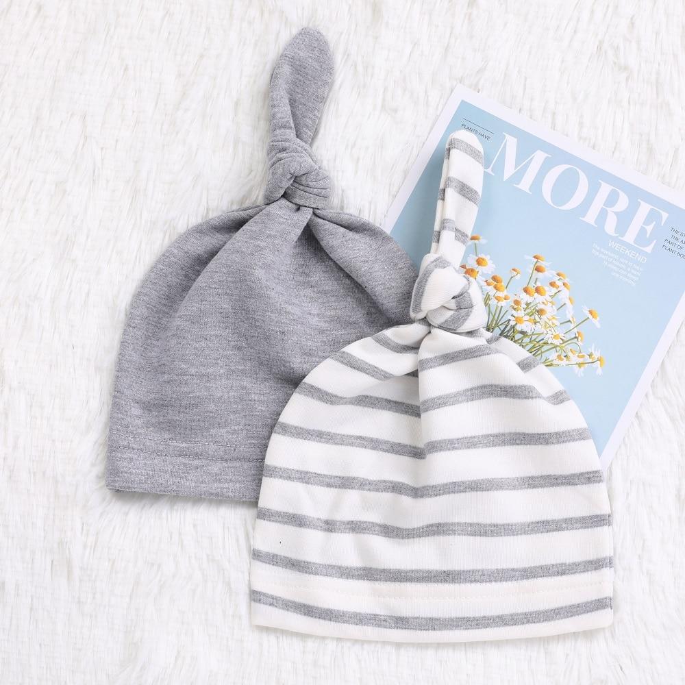 2 Teile/los Einstellbare Baby Hut Frühling Herbst 100% Baumwolle Neugeborene Kinder Mützen Unisex Kinder Kleinkind Baby Caps Baby Hüte