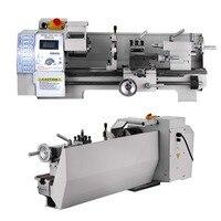 Мини регулируемый скоростной Высокоточный DIY металлический токарный станок Настольный цифровой RPM 750 Вт для Деталей токарный станок для рем