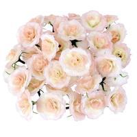 100Pcs Artificial Silk Roses Flowers Heads Bulk Wedding Party Decor Pink