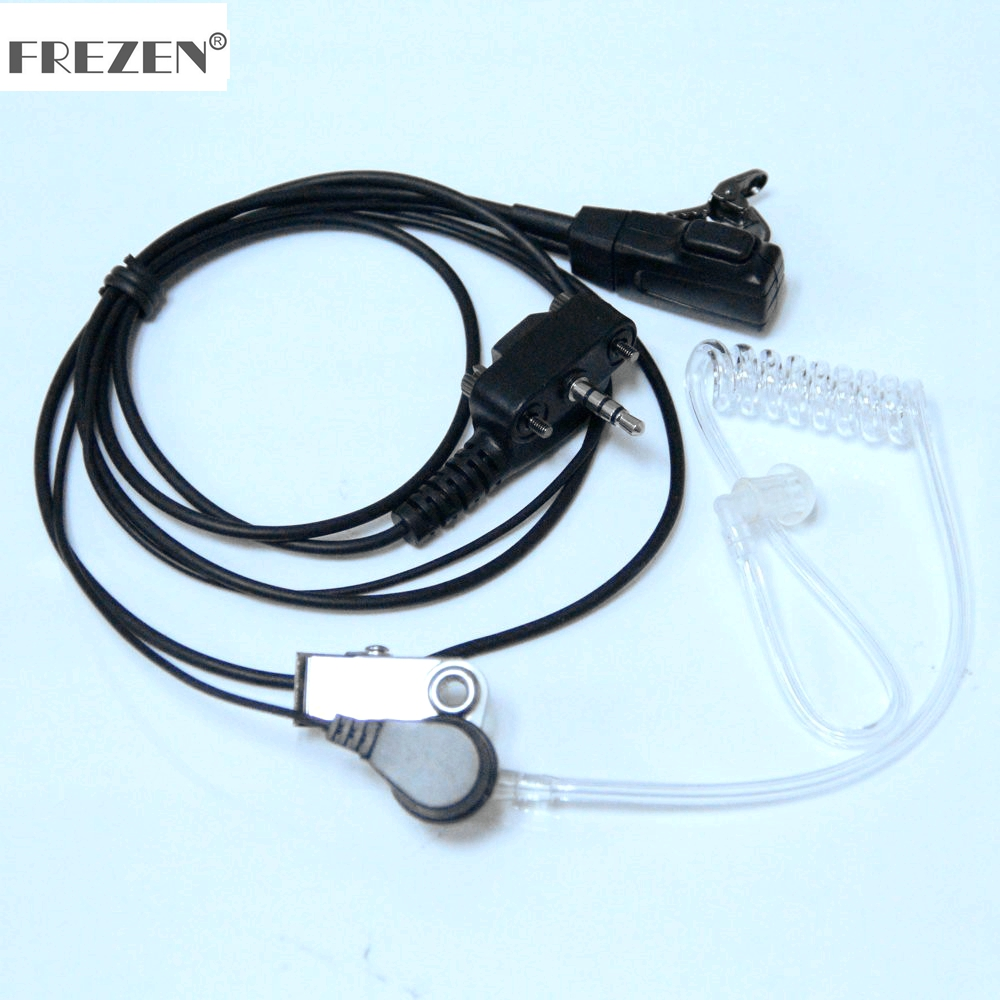 Covert Acoustic Tube Bodyguard Earpiece Headset Microphone For Yaesu Vertex Two Way Radio VX-231 VX-131 VX-132 VX-150 VX-160