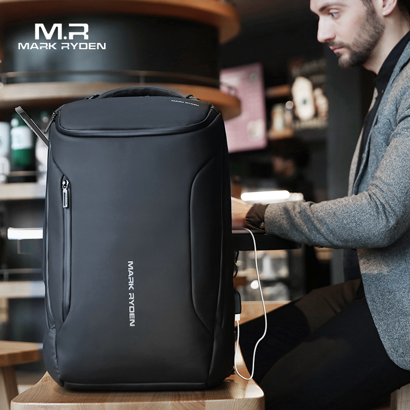 Mark Ryden New Business Backpack Anti Theft Fashion Men Multifunctional Waterproof Backpack 15.6 Inch Computer Pouch USB Interfa