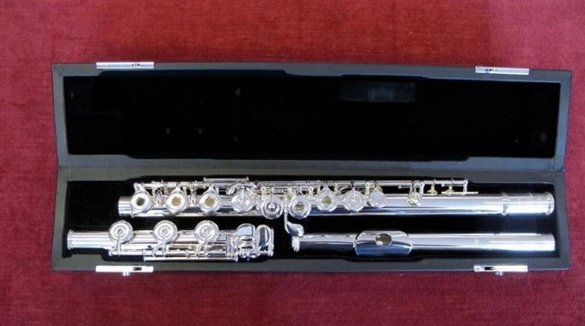 French Button Professional Sankyo Flute CF301 Musical Instrument Silver Plated Flute Silver C 17 Open Holes