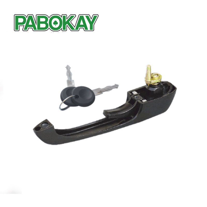 FOR VW LT DOOR HANDLE FRONT LEFT RIGHT 281-363 BLACK 251837205B WITH 2 KEYS 251837205H 113837205MS