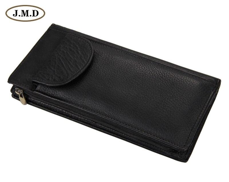 c93f6fb4d Moda negro cuero genuino de los hombres cartera con tarjeta de crédito 8065A