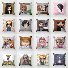 цены Hot sale  girls cartoon pattern pillow case men women girls ladies square pillow cases throw pillow cover 45*45cm