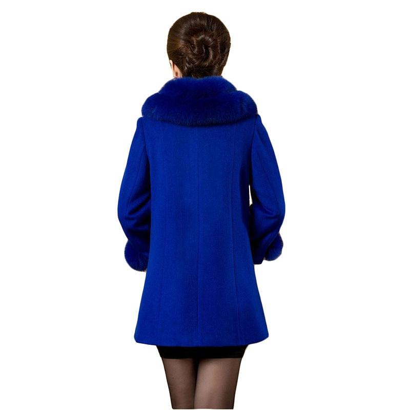 La Manteau Veste Femmes Hiver 5xl Qualité 2017 De Vêtements Yagenz black Plus D'âge Col Laine K437 Red Haute Mère Mode Moyen Taille blue Fourrure rxvqvw