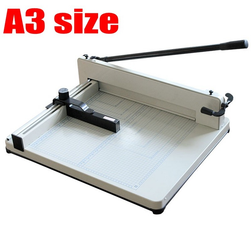 Desktop Stack Paper Cutter Guillotine A3 size Cutting Machine 40mm thickness + 2 additional cutting blades cutting tip size 2