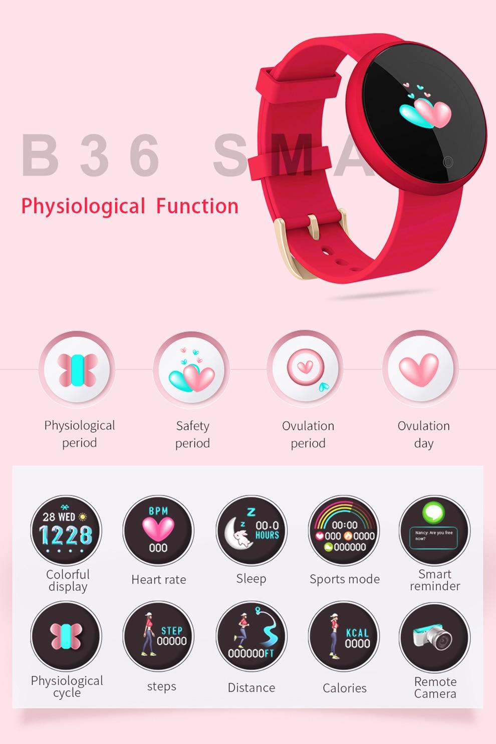 B36-XQ_04 Montre numérique femme 12 langues