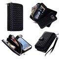 Caso saco do telefone de couro para samsung galaxy s7 s7 edge caso de luxo carteira bolsa magnética capa de proteção para samsung s7 borda
