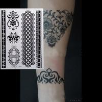 0a22586a16115 1pcs HOT New Black Henna Tattoo Fake Lace Flash Arabic Indian Mandala Totem  For Bride Art