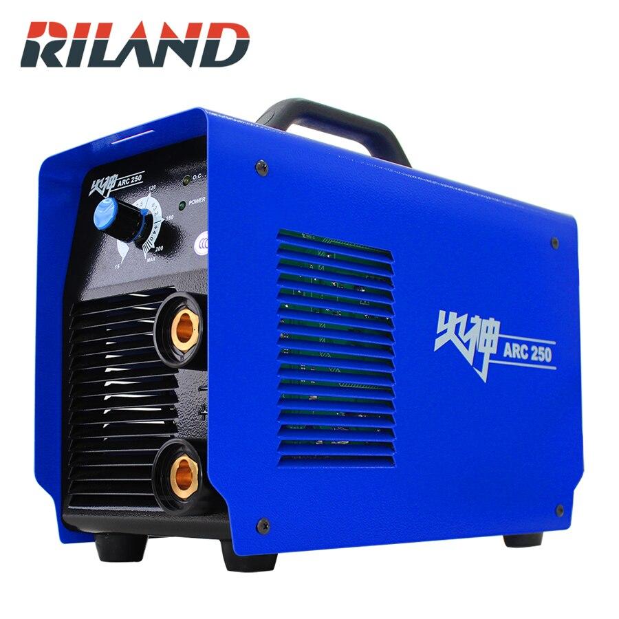 RILAND ARC250 MMA 220 В однофазный сварочный аппарат 200AMP автоматической пайки инвертор дуги Тиг Миг Портативный