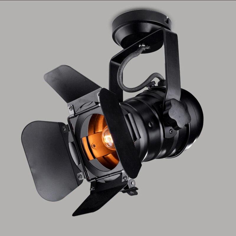 21*15*9cm E27 Vintage Celling Iron Lamp Industrial Light Retro Lamp Adjustable 4 Leaf For Coffee Bar Loft Style Fixture DA