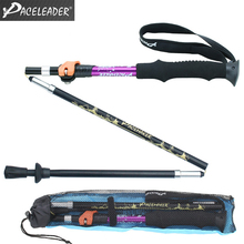 Hiking Stick Walking Stick Trekking Pole Nordic Walking Poles Telescopic Alpenstock Aluminum Alloy Shooting Crutch cane