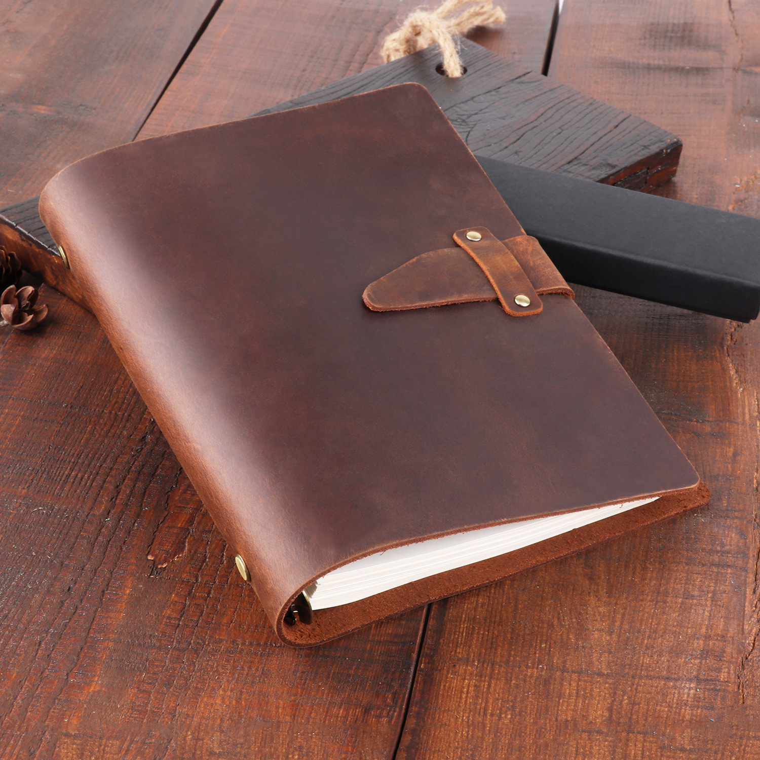 A5 Genuine Leather Diary Notebook Vintage Loose Leaf Business Planner Crazy Horse Retro Filofax Journal Handbook