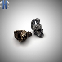 Spartan Helmet Pendant Versatile Key Pendant Vintage Ethnic Windmill Pendant Bag Pendant Knife Beads
