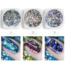Chameleon Aurora Laser Nail Art Mirror Sequins Star Foil Paillette Irregular Glitter Powder Flakes  Gel