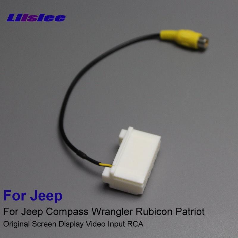 Liislee autós adapter csatlakozó vezeték drótvezeték Jeep iránytű Wrangler Rubicon Patriot hátsó kamera eredeti videó bemenet RCA