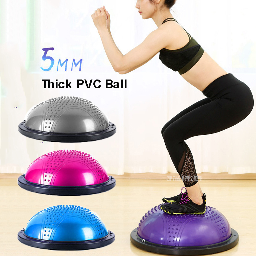 Inflatable Yoga Balance Ball Trainer Strength Training Equipment Yoga Endurance Workout Fitness Ball GYM Sport Exercise Fitball