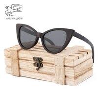 Classic Fashion Handmade Pure Natural Dune Dyed Black Frame Lady Cat Eye Sunglasses Coated Polarized Butterfly Sunglasses UV400