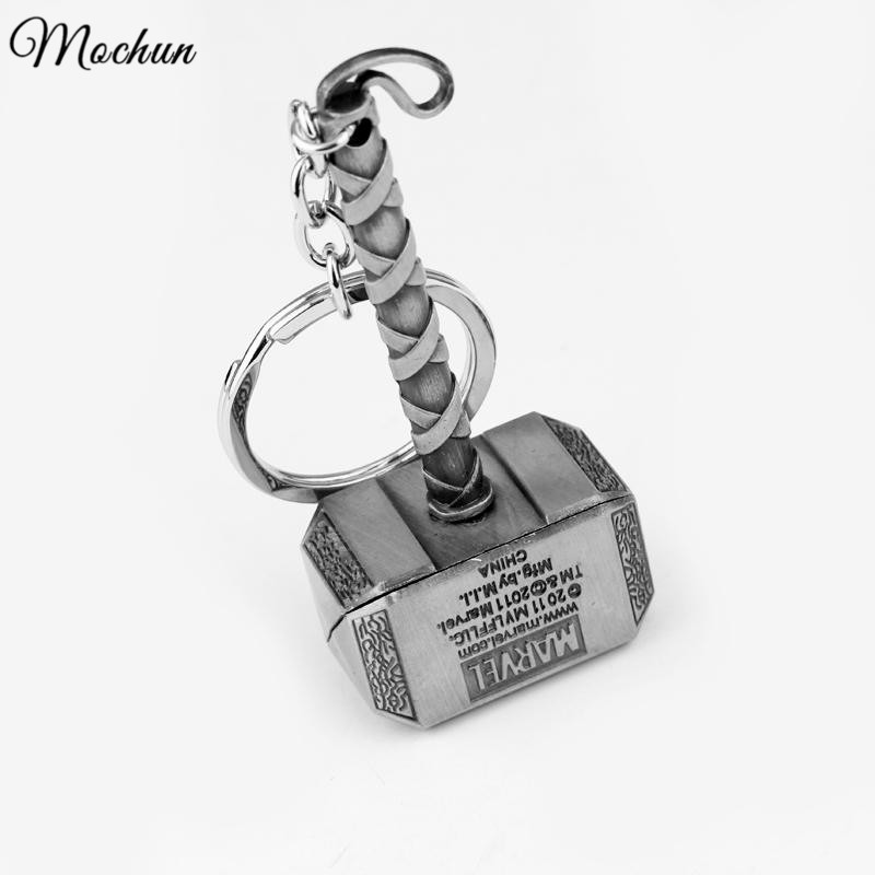 Wholesale New Fashion Key Chains Accessory Thor Hammer Type Metal KeyChain For Avengers Mjolnir Figure Hot