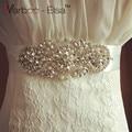 Handmade bridal sash luxury pearl beaded belt bride wedding sash rhinestone belts for wedding dresses 2016 cinturon novia