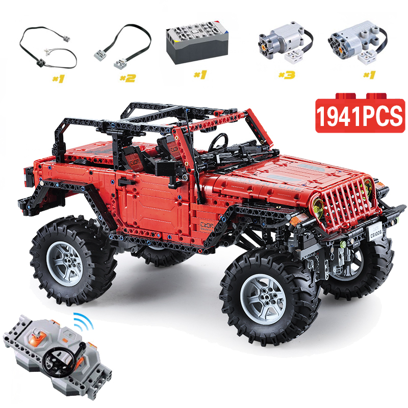 Cada Remote Control 2 4G Adventurer Car 1941pcs Technic Battery Box Motor Creator Building Bricks Blocks